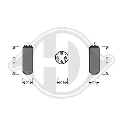 Filtre déshydratant, climatisation - Diederichs Germany - 8766001