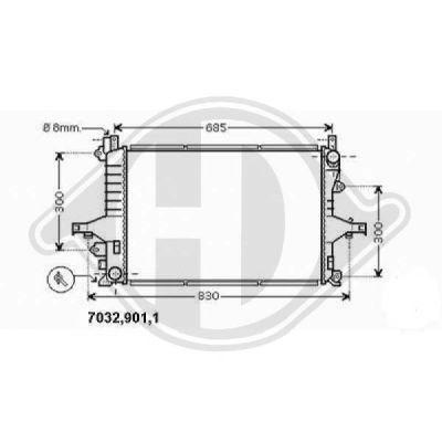 Radiateur, refroidissement du moteur - HDK-Germany - 77HDK8766002