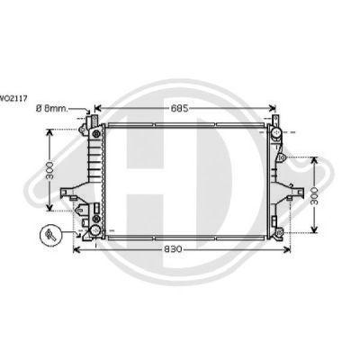 Radiateur, refroidissement du moteur - Diederichs Germany - 8766003