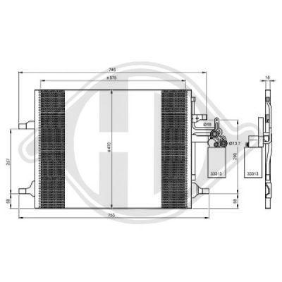 Condenseur, climatisation - Diederichs Germany - 8766200