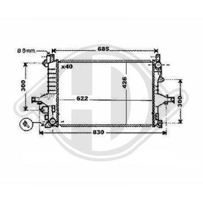 Radiateur, refroidissement du moteur - Diederichs Germany - 8768000