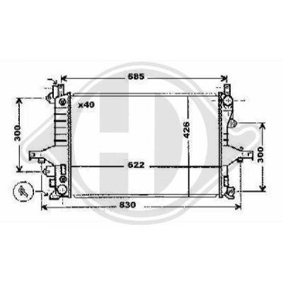 Radiateur, refroidissement du moteur - Diederichs Germany - 8768001