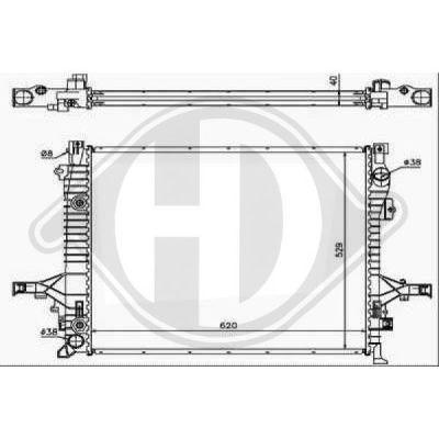 Radiateur, refroidissement du moteur - HDK-Germany - 77HDK8768505