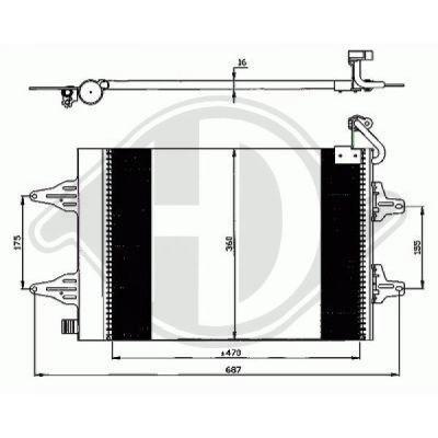 Condenseur, climatisation - Diederichs Germany - 8780500