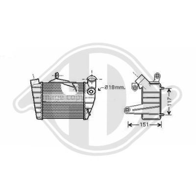Intercooler, échangeur - Diederichs Germany - 8780503
