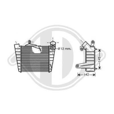Intercooler, échangeur - Diederichs Germany - 8780504