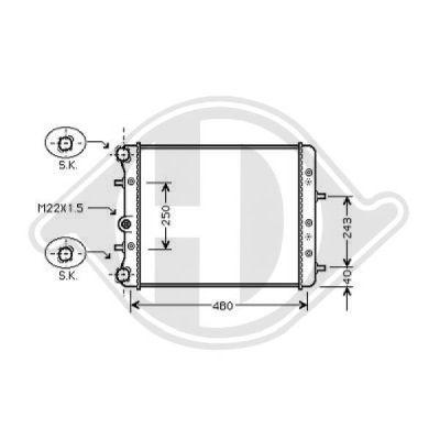 Radiateur, refroidissement du moteur - HDK-Germany - 77HDK8780505