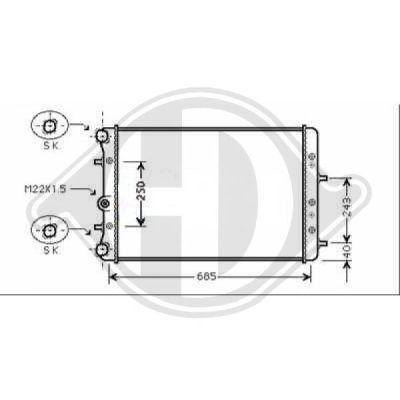 Radiateur, refroidissement du moteur - Diederichs Germany - 8780507