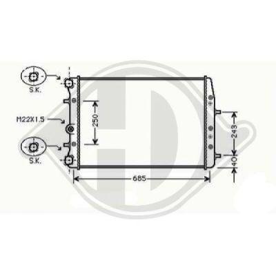 Radiateur, refroidissement du moteur - Diederichs Germany - 8780508