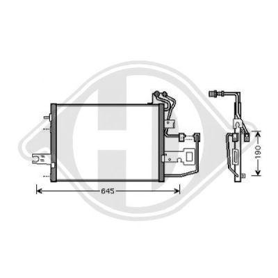 Condenseur, climatisation - Diederichs Germany - 8782007