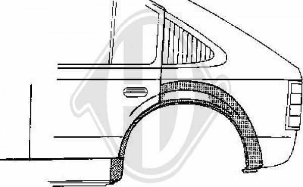 Panneau latéral - Diederichs Germany - 9921131