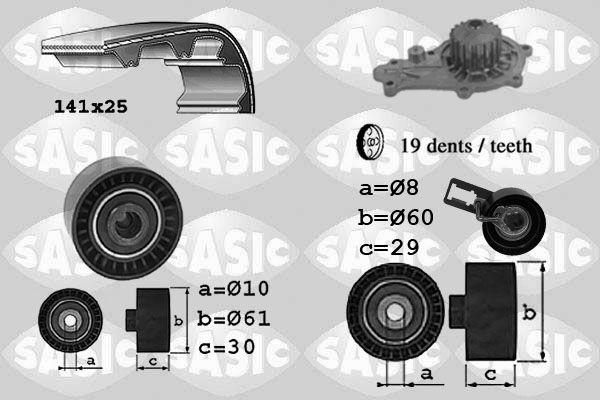 pompe eau kit de courroie de distribution citro n c3 1 6 92cv 2009 amapiece. Black Bedroom Furniture Sets. Home Design Ideas