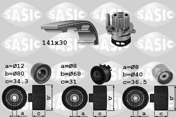 pompe eau kit de courroie de distribution volkswagen golf v 2 170cv 2005 2008 amapiece. Black Bedroom Furniture Sets. Home Design Ideas