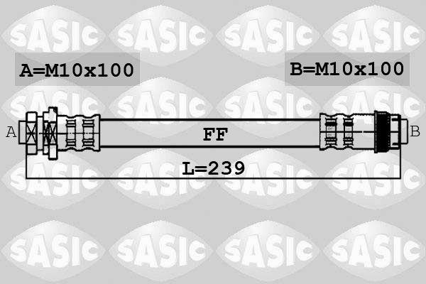 Flexible de frein - SASIC - 6600033