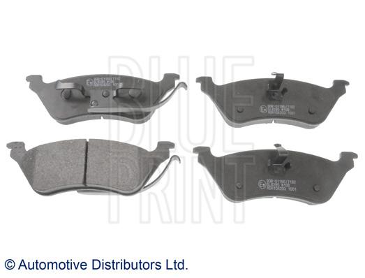 Kit de plaquettes de frein, frein à disque - BLUE PRINT - ADA104203