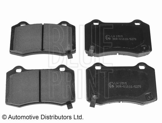 Kit de plaquettes de frein, frein à disque - BLUE PRINT - ADA104206