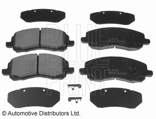 Kit de plaquettes de frein, frein à disque - BLUE PRINT - ADA104208