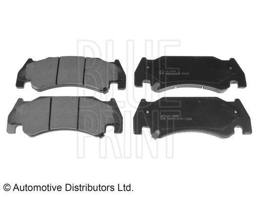 Kit de plaquettes de frein, frein à disque - BLUE PRINT - ADA104210