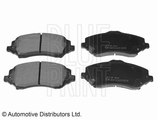 Kit de plaquettes de frein, frein à disque - BLUE PRINT - ADA104213