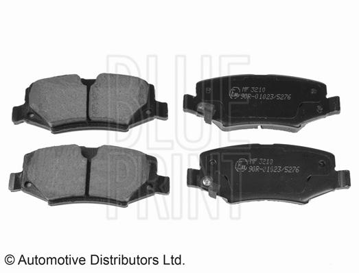 Kit de plaquettes de frein, frein à disque - BLUE PRINT - ADA104214