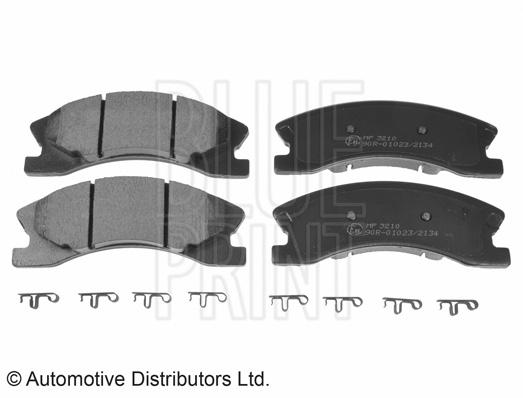 Kit de plaquettes de frein, frein à disque - BLUE PRINT - ADA104217