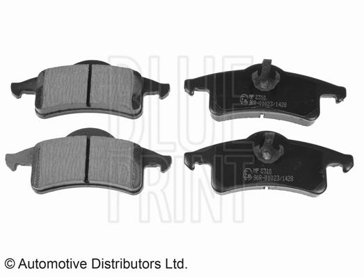Kit de plaquettes de frein, frein à disque - BLUE PRINT - ADA104218