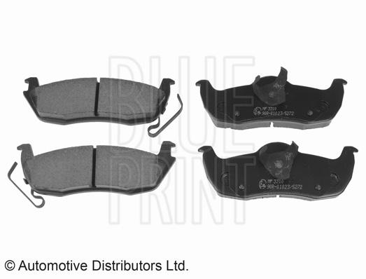 Kit de plaquettes de frein, frein à disque - BLUE PRINT - ADA104220