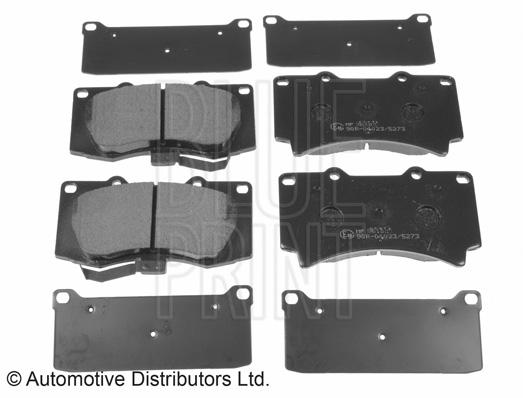 Kit de plaquettes de frein, frein à disque - BLUE PRINT - ADA104221