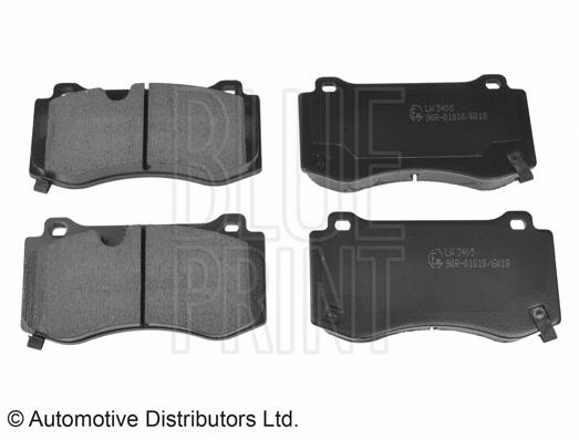 Kit de plaquettes de frein, frein à disque - BLUE PRINT - ADA104232