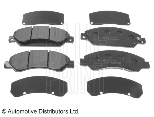 Kit de plaquettes de frein, frein à disque - BLUE PRINT - ADA104242