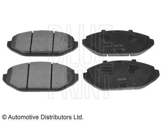 Kit de plaquettes de frein, frein à disque - BLUE PRINT - ADA104248