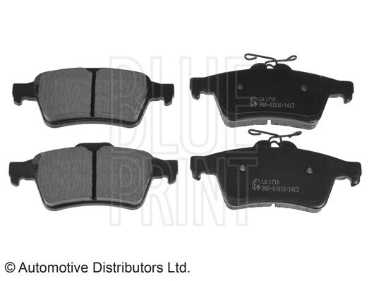 Kit de plaquettes de frein, frein à disque - BLUE PRINT - ADA104249