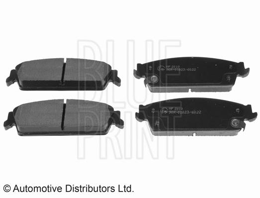 Kit de plaquettes de frein, frein à disque - BLUE PRINT - ADA104251