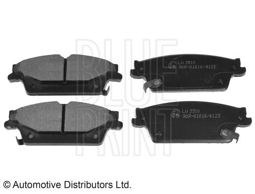 Kit de plaquettes de frein, frein à disque - BLUE PRINT - ADA104252