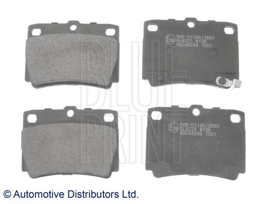 Kit de plaquettes de frein, frein à disque - BLUE PRINT - ADC44248