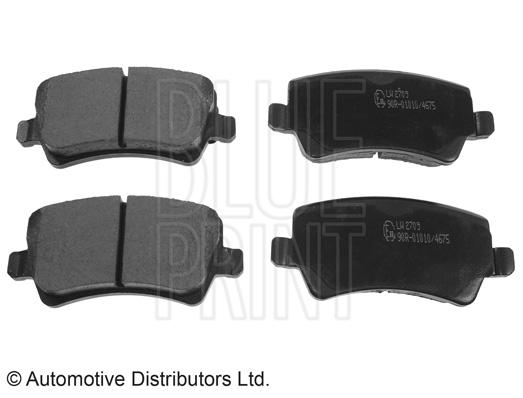 Kit de plaquettes de frein, frein à disque - BLUE PRINT - ADF124202