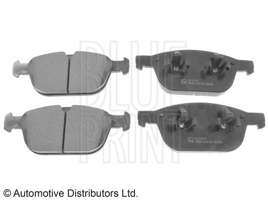 Kit de plaquettes de frein, frein à disque - BLUE PRINT - ADF124203