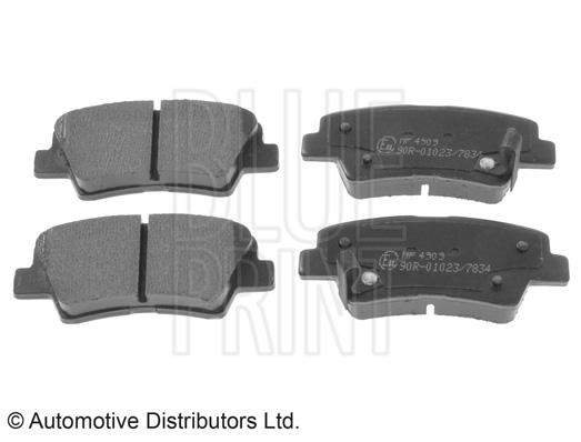 Kit de plaquettes de frein, frein à disque - BLUE PRINT - ADG042100