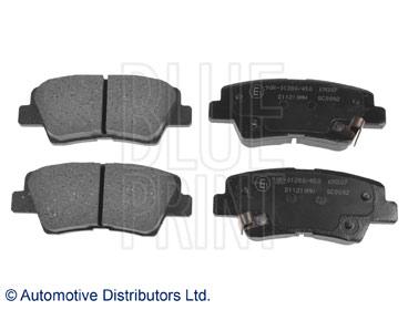 Kit de plaquettes de frein, frein à disque - BLUE PRINT - ADG042109