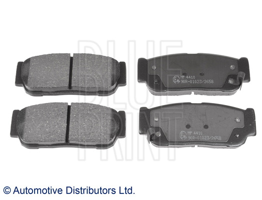 Kit de plaquettes de frein, frein à disque - BLUE PRINT - ADG042111