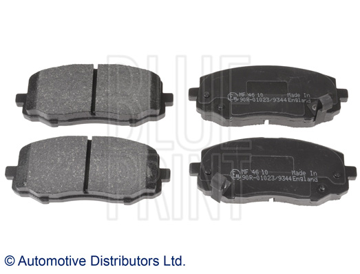 Kit de plaquettes de frein, frein à disque - BLUE PRINT - ADG042112