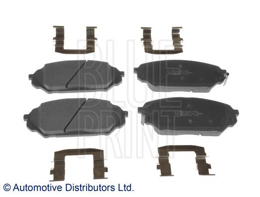 Kit de plaquettes de frein, frein à disque - BLUE PRINT - ADG042121