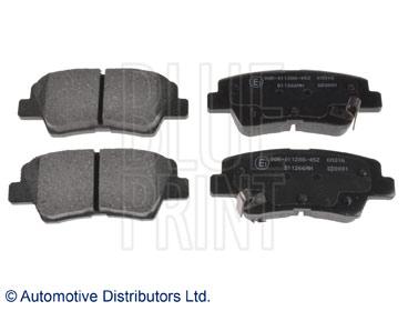 Kit de plaquettes de frein, frein à disque - BLUE PRINT - ADG042127