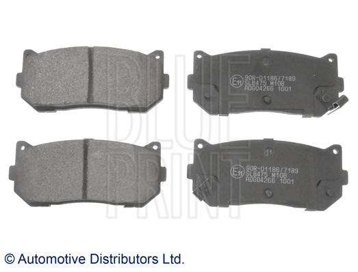 Kit de plaquettes de frein, frein à disque - BLUE PRINT - ADG04266