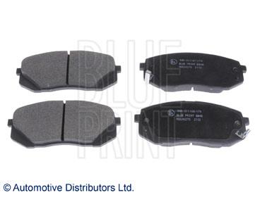 Kit de plaquettes de frein, frein à disque - BLUE PRINT - ADG04278