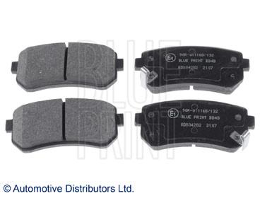 Kit de plaquettes de frein, frein à disque - BLUE PRINT - ADG04282