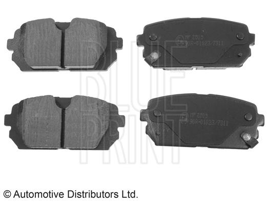 Kit de plaquettes de frein, frein à disque - BLUE PRINT - ADG04283