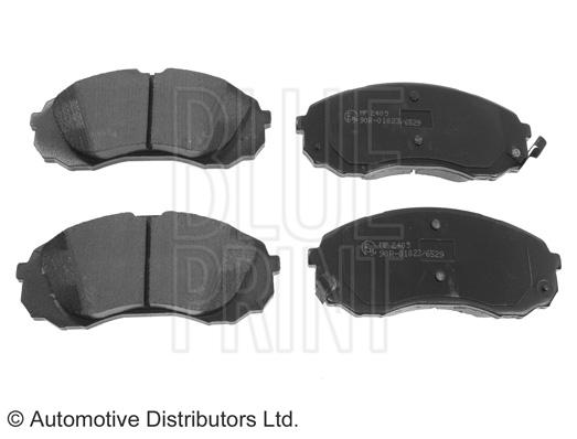 Kit de plaquettes de frein, frein à disque - BLUE PRINT - ADG04290