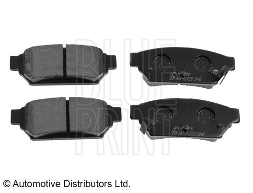 Kit de plaquettes de frein, frein à disque - BLUE PRINT - ADG04296