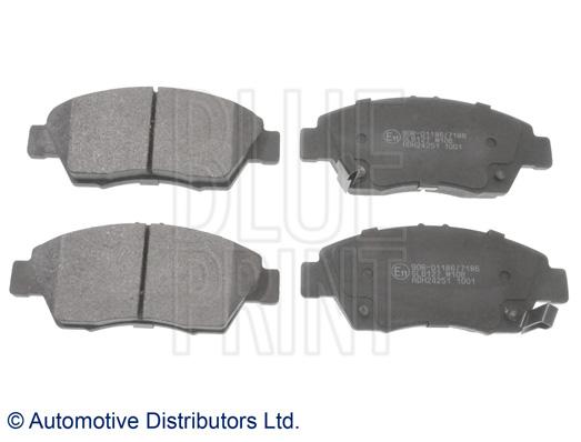 Kit de plaquettes de frein, frein à disque - BLUE PRINT - ADH24251